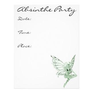 Fada 1B do verde da assinatura da arte do absinto Modelo De Panfletos
