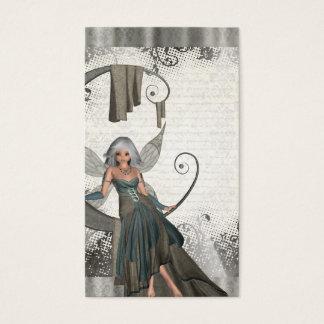 Fada bonito do manga cartão de visitas