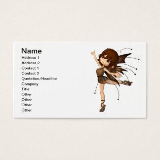 Fada bonito do outono de Toon Cartão De Visitas