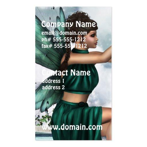 Fada celestial modelos cartão de visita