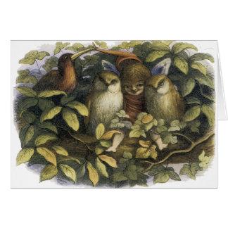 Fada com o cartão das corujas por Richard Doyle