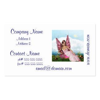 Fada cor-de-rosa cartão de visita