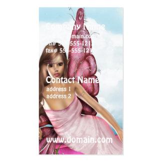 Fada cor-de-rosa cartões de visitas
