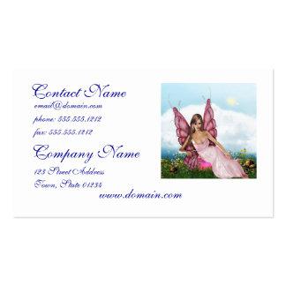 Fada cor-de-rosa cartoes de visita