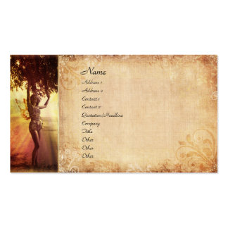 Fada da árvore cartão de visita