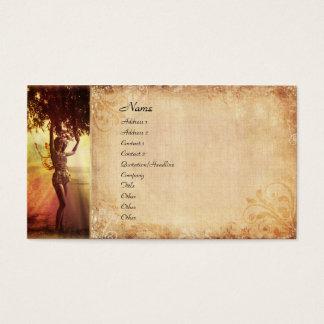 Fada da árvore cartão de visitas