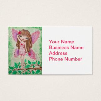 """""""Fada da flor cor-de-rosa"""" Cartão De Visitas"""