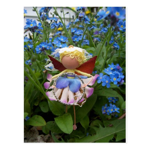 Fada da flor de Straelita Cartão Postal