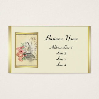 Fada da flor do vintage cartão de visitas