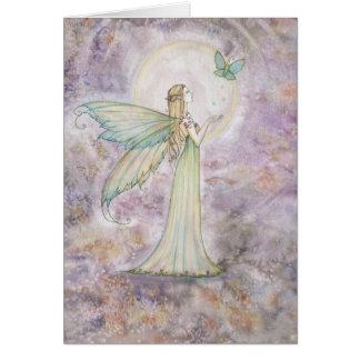Fada da liberdade e cartão da borboleta