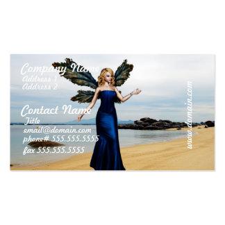 Fada da praia cartões de visitas