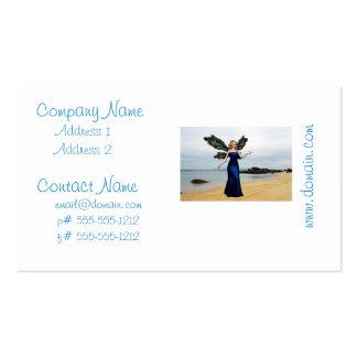 Fada da praia modelo cartão de visita