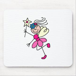 Fada da vara em Mousepad cor-de-rosa