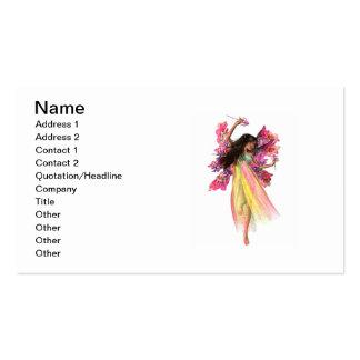 Fada do carnaval da flor modelo cartão de visita