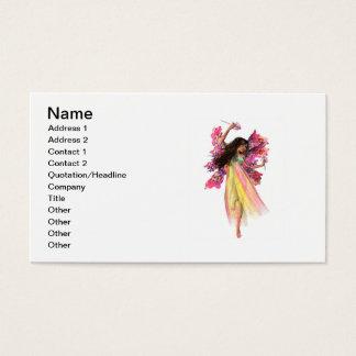 Fada do carnaval da flor cartão de visitas