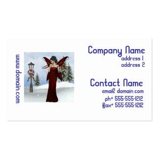 Fada do inverno cartões de visita