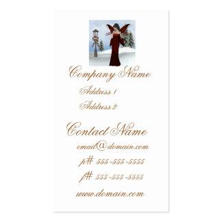 Fada do inverno modelos cartões de visita