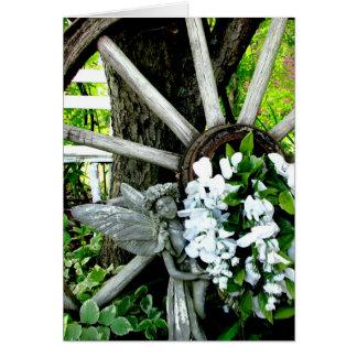 Fada do jardim cartão comemorativo