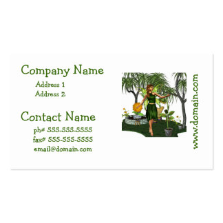 Fada do jardim cartão de visita