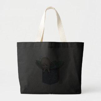 Fada do verde azul do bolso de Jean Sacola Tote Jumbo