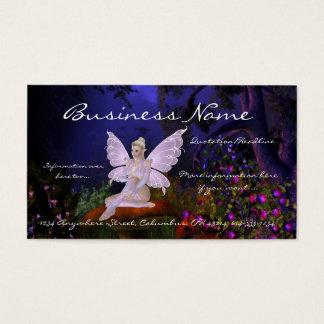 Fada em um cartão de visita da fantasia do design