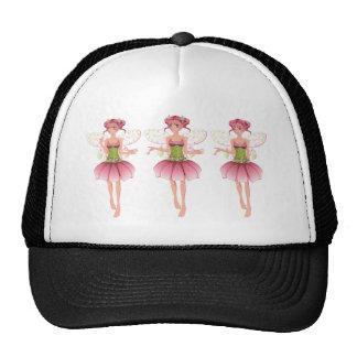 Fada floral cor-de-rosa boné
