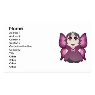 Fada gótico no rosa cartão de visita