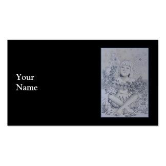 Fada. No preto Cartão De Visita