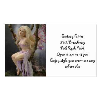 Fadas da fantasia em todo o mundo modelo cartões de visita