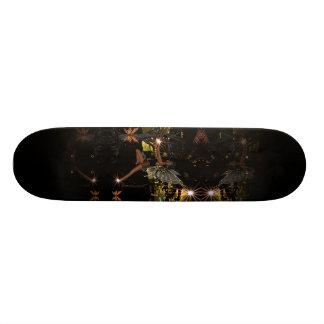 Fadas da luz da noite da arte da fantasia do skate