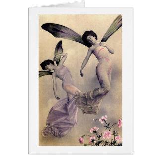 Fadas do Victorian Cartão Comemorativo