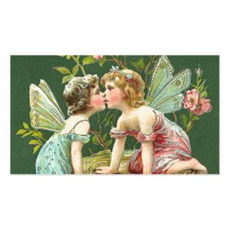 Fadas do vintage de St Patrick Cartão De Visita