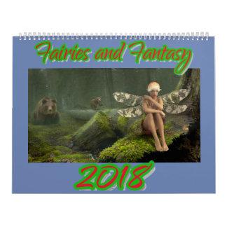 Fadas e calendário da fantasia 2018