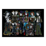 Fadas tribais góticos do circo de Myka Jelina Stea Posteres