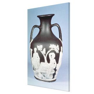 Faiança, cópia do vaso de Portland Impressão De Canvas Esticada