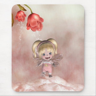 Fairys pequenos bonitos 1 do bebê do pequeno de mouse pad