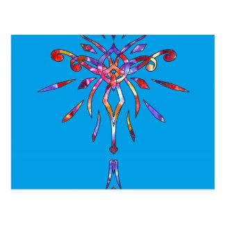 Faísca colorida Sparkling do desenhista de Starbur Cartões Postais
