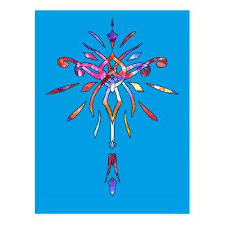 Faísca colorida Sparkling do desenhista de Starbur Cartoes Postais