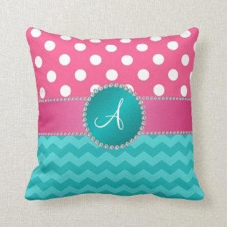 Faísca cor-de-rosa da viga de turquesa das bolinha travesseiros de decoração