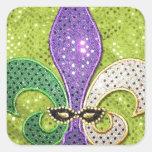 Faísca da jóia de Nova Orleães da flor de lis Adesivo Em Forma Quadrada