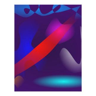 Faixa vermelha panfleto coloridos