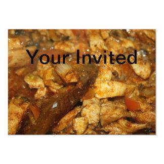Fajitas da galinha seu cartão convidado convites