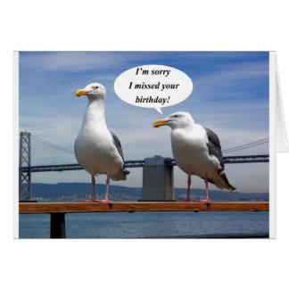 fala das gaivotas cartao