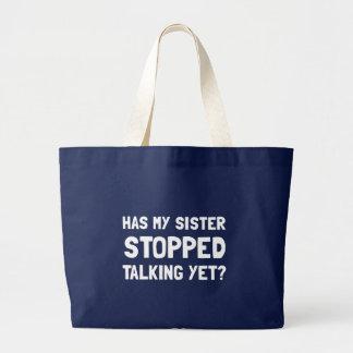 Fala parada irmã ainda bolsa tote grande