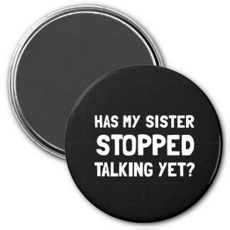 Fala parada irmã ainda imã