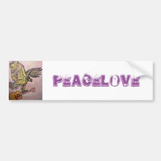 Falcão de peixes acústico (PeaceLove) Adesivo Para Carro