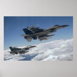 Falcons F-16 de combate Pôster