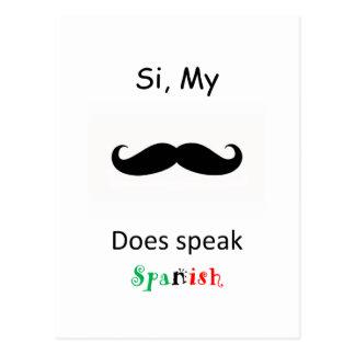 Fale o espanhol cartão postal