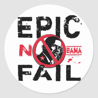 Falha épico Anti-Obama Adesivos Redondos