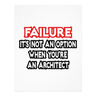 Falha… não um arquiteto da opção… panfletos personalizado